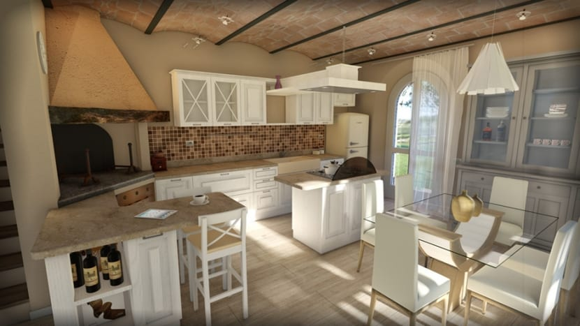 Rendering per home staging in Toscana.