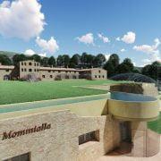 Rendering del progetto di massima delle Terme di Bagni di Mommialla.
